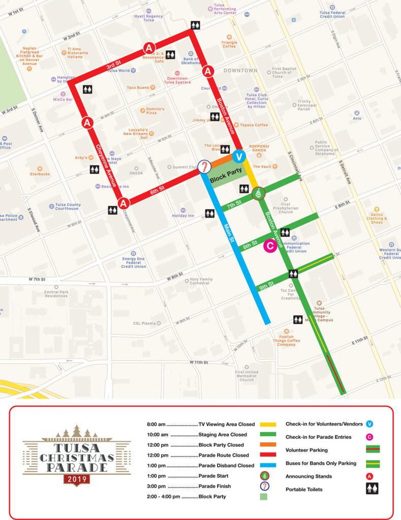 Tulsa Christmas Parade Map 2019